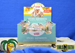 !!12 LOT!! Living World Small Animal Sticks - Fruit Flavour - 12x45 g (1.5 oz)