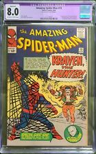 Amazing Spider-Man #15 VF 8.0 CGC. 1st Appearance Kraven the Hunter OW/White