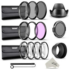 Neewer 58MM Complete Lens Filter Accessory Kit UV CPL FLD ND2 ND4 ND8 for Canon