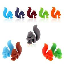 Beautiful Silicon Squirrel Suction wine glass charms for top table or favours