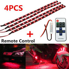 Wireless Remote Control 30CM Motorcycle Red LED Light Strip For Harley-Davidson