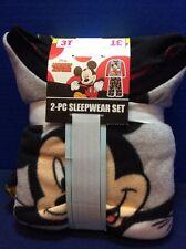 DISNEY Mickey Mouse Boy's 3T Toddler 2 Piece Long Sleeved Pajamas Sleepwear NWT
