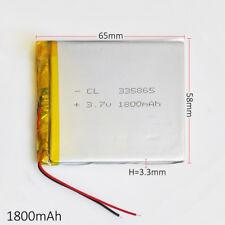 3.7V 1800mAh 335865 Li Po Polymer Battery For Power Bank Tablet PC mobile phone