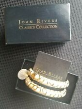 tone Joan Rivers Classic Collection bracelets Set of 2 Tan and Gold