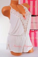 ~XS X-Small~ VS~ Victorias Secret ~Modal ~Crochet Lace ~Teddy ~Romper ~Ivory