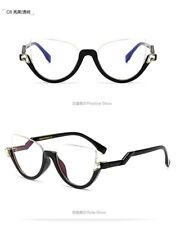 6d54a0c93643 Women Half Frame Plain Glasses Fashion Cat Eye Sunglasses Clear Lens Oculos