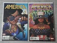America 1 & 2 - both 2nd printings - America Chavez - NM- and NM