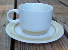 Vintage Country Day Stoneware Coffee Cup Saucer Set Impressions Daniele EUC