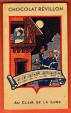 Image - Chromo - Au clair de la lune - Chocolat Révillon -N°12 - Réf.16