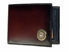 Nocona Mens Western Wallet  Bi-fold With Pass Case Shotgun Shell Leather Brown