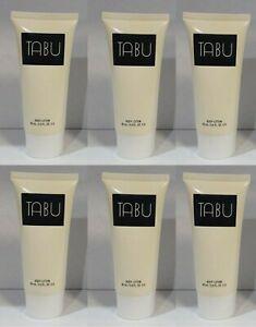 *PACK OF 6* Bottles TABU by DANA Fragrance BODY LOTION 2.0 oz NEW Unbox VINTAGE