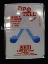 10 Uline Tip N Tell Shipping Drop Shipment Handling Indicators S-866 + Labels!