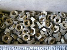 1 - Pkt (10) 3/8 BSW IMPERIAL BRASS HEX  NUTS. WHITWORTH.