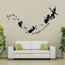 Tinkerbell Peter Pan Children Nursery Wall Stickers Quotes Wall Decals Wall Arts
