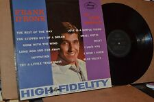 FRANK D'RONE: TRY A LITTLE TENDERNESS 1961 MERCURY 20497 VG++ LP; NOT ON CD