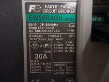 EW50RAGU-3P030K Fuji Electric Circuit Breaker Hyd Mag 3Pole 30A 440VA BRAND NEW!