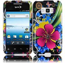 For LG Optimus Elite LS696 HARD Protector Case Snap Phone Cover Eternal Flower