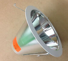 """6"""" INCH AIR TIGHT SPECULAR CHROME REFLECTOR BAFFLE CONE FOR RECESSED CAN LIGHT"""