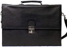 Genuine Cowhide Leather Executive Legal / Portfolio Bag BLACK # 9501 USD
