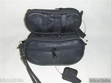Genuine Leather Double Eyeglass Case or Piper Holder Case  - BLACK MPN 3067