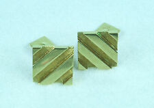 14K SOLID GOLD SQUARE STRIPED CUFFLINKS