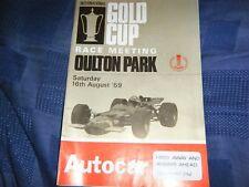 OULTON PARK 1969 PROGRAM JOCHEN RINDT LOTUS 63 JACKY ICKX 4WD TICKET MATRA BRM