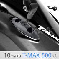 motorcycle mirror base black aluminum for Yamaha T-MAX a pair Magazi KiWAV