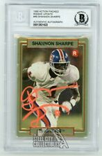 Shannon Sharpe 1990 Action Packed Rookie Update Auto Card #46 - BAS