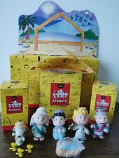 2001 HALLMARK Peanuts Gallery Porcelain Snoopy Christmas Nativity COMPLETE SET