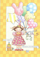 Mary Engelbreit-For You.Balloons Kitty-Happy Birthday Greeting Card-New!