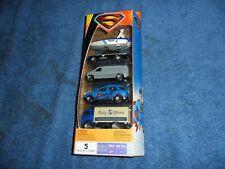 HTF MATCHBOX Superman Returns DC Comics 5-Pack Gift Set Police Boat Van Truck +