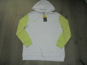 BNWT- M&S MARKS & SPENCER GOODMOVE WHITE & SOFT LIME HOODIE UK SIZE 12