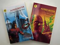 Alfred Bester 2 Books Demolished Man + The Stars my Destination Science Fic New
