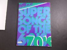 * Super Songs of the 60s &70s Songbook-Rapid play Trombone,Baritone-horn-