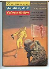 Fantasy and Science Fiction Vol 10 No 1. 1956 Approx grading : Fine