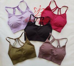 UK Womens Sports Bra Top Gym Activewear Yoga Training Fitness Energy Seamless