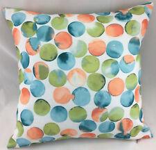 Teal, Peach, Lime and White Spot Design Evans Lichfield Cushion Cover