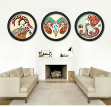 Modern Round Photo Frame Wooden Hanging Picture Holder Bedroom Decoration New