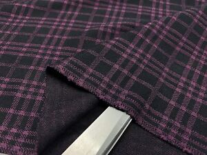 *NEW*Dark Purple Stretch Jersey Double Knit Dress/Masks/Cushions Fabric*FREE P&P