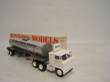Winross Tanker Akzo Chemie America Noury Chemicals Truck White 7000 cab w stacks