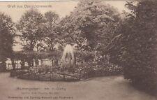 Gruss aus Oberschöneweide AK 1924 Blumengarten Berlin 1806046