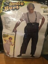Uncle Bert Old Man Halloween Costume with Added Fat Belly, Wig, Suspenders