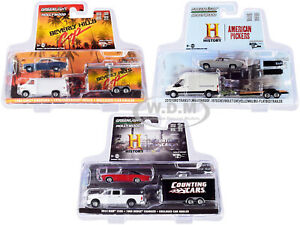 HOLLYWOOD HITCH & TOW SERIES 8, SET OF 3 PCS 1/64 DIECAST GREENLIGHT 31100-A-B-C