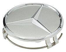 Mercedes Aleación Centro De Rueda Caps 4X60 mm Plata