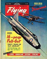 RAF FLYING REVIEW APR 58 ORIGINAL: 14 PAGE RAF AC DIRECTORY/HURRICANE I CUTAWAY