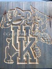 Kentucky Wildcat Custom Carved Wood Plaque
