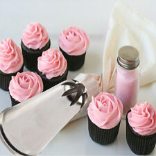Drop Rose Flower Cup Ice Cream Piping Tip Nozzle Cake Candy Decorate Pastry Tool