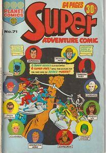 """Australian: Super Adventure Comic #71 Colour Comics 1976 """"Justice League America"""