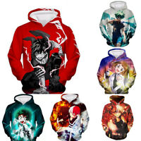 My Boku no Hero Academia Izuku Midoriya Hoodie Sweatshirt Jacket Pullover Coat