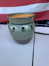 Scentsy Wax Warmer - Full Size Jade / Brown